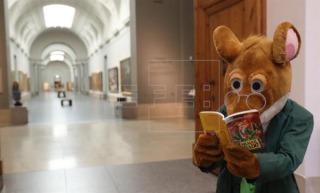 ¡Geronimo visita el Museo del Prado para presentar su primera aventura en España!