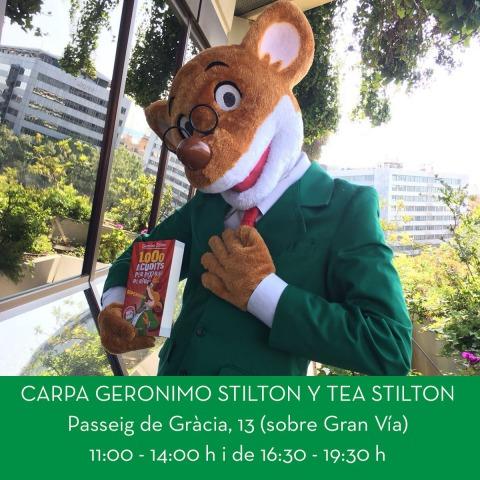Per Sant Jordi, Geronimo i Tea Stilton, firmen llibres a Barcelona