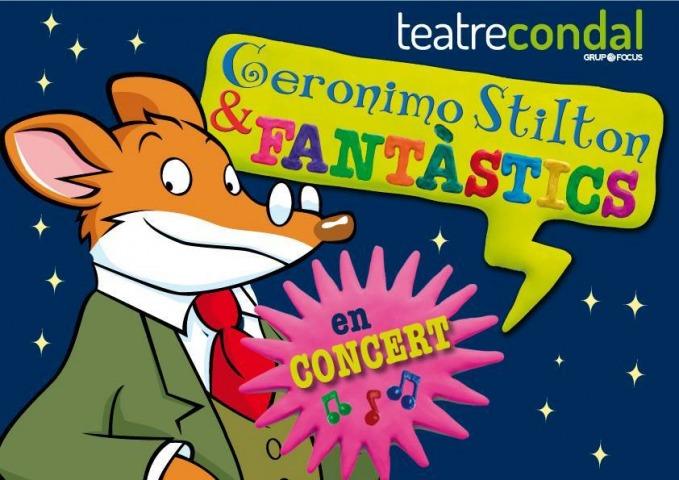 Arriba l'espectacle Geronimo Stilton i els Fantàstics al Teatre Condal