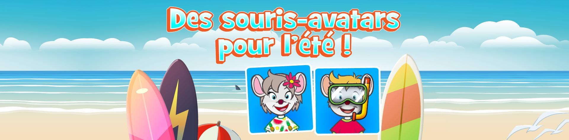 Des souris-avatars pour l'été !