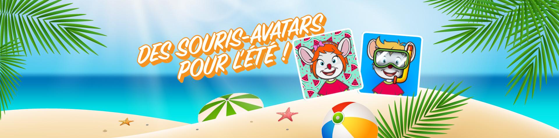 Des souris-avatar pour l'été !