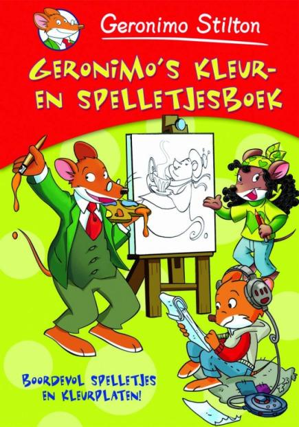 Geronimo's kleur- en spelletjesboek