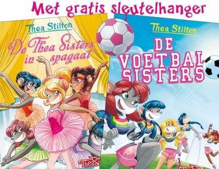 De Thea Sisters in spagaat (20) + De voetbalsisters (21) + gratis sleutelhanger