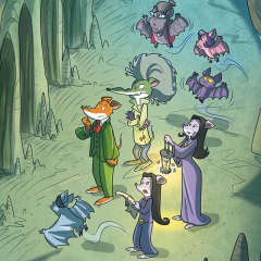 Brr… de donkere grotten in met Vleermuisgespuis!