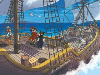 Woeste piraten op jacht