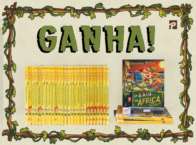 Ganha o livro novo do Geronimo!