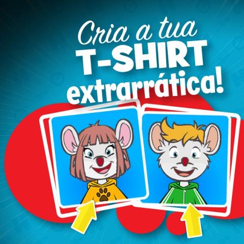 Cria a tua T-shirt Extrarrática!