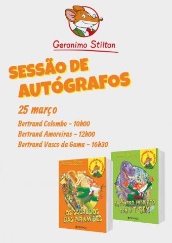 Vem conhecer o Geronimo Stilton amanhã!
