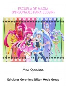 Miss Quesitos - ESCUELA DE MAGIA (PERSONAJES PARA ELEGIR)