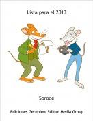 Sorode - Lista para el 2013