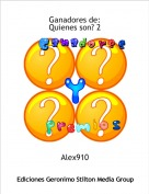 Alex910 - Ganadores de:Quienes son? 2