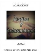 Laura22 - ACLARACIONES