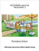 Periodista Stilton - Actividades para las Vacaciones 3