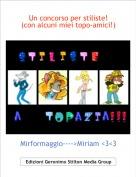 Mirformaggio---->Miriam <3<3 - Un concorso per stiliste! (con alcuni miei topo-amici!)