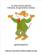 gaiasimpatica - la mia prima poesiainfanzia di geronimo stilton
