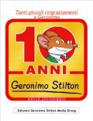 ketty formaggio - Tanti piccoli ringraziamentix Geronimo