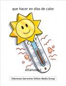 aitanusqui - que hacer en dias de calor