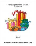 deme - revista geronimo stilton numero 4