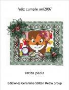 ratita paola - feliz cumple ani2007