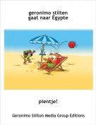 pientje! - geronimo stilten gaat naar Egypte