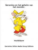 muisklauw - Geronimo en het geheim van het monster.