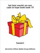 hasoeni - het best maniet om een cado te kope boek boek 19