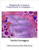 Vanilla Formaggina - Sbagliando si impara, l'importante è l'impegno ...