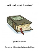 yasmin staart - welk boek moet ik maken?