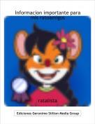ratalista - Informacion importante para mis ratoamigos